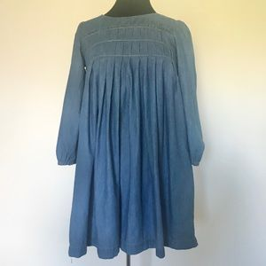 Earth Music&Ecology Long Sleeve Chambray Dress